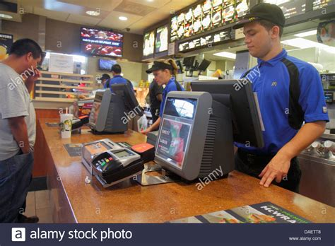miami homestead florida mcdonald s fast food restaurant inside stock photo royalty free image