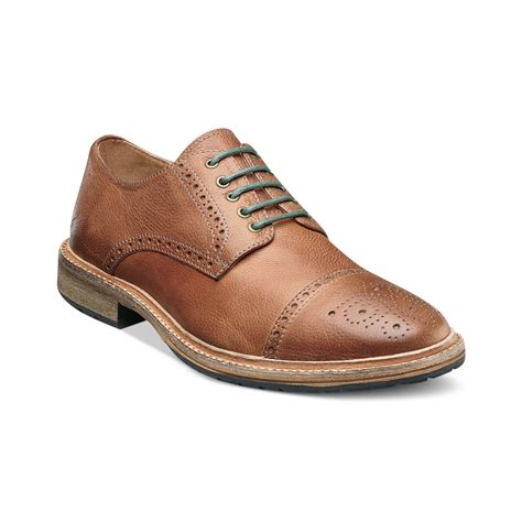 florsheim shoes florsheim captoe laceup shoes in brown for