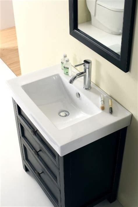 Bathroom Consoles And Vanities Torun 700mm Solid Timber Black Vanity Traditional Bathroom Vanities And Sink Consoles