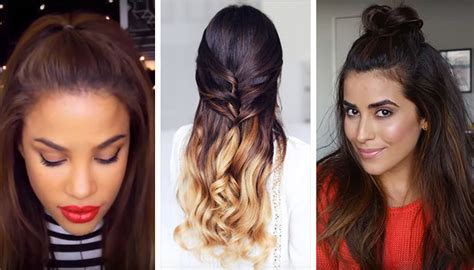 hairstyles wearing hair up 3 ways to wear half up half down hair without looking 12