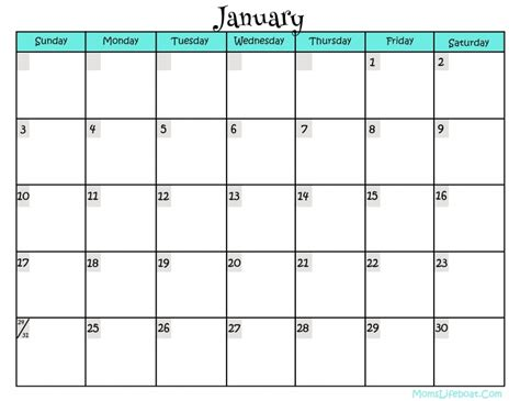 full page monthly calendar printable free calendar template