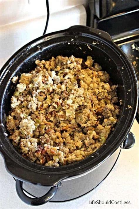 nana bessie s sausage stuffing a crockpot recipe life