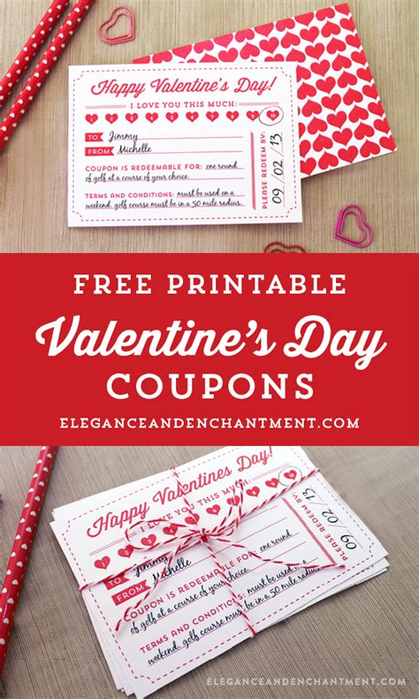valentines coupons s day coupon free printable