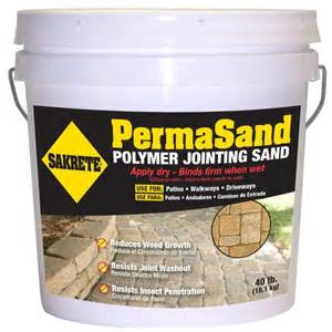 poly sand home depot sakrete permasand 40 lb paver joint sand 65470004 the