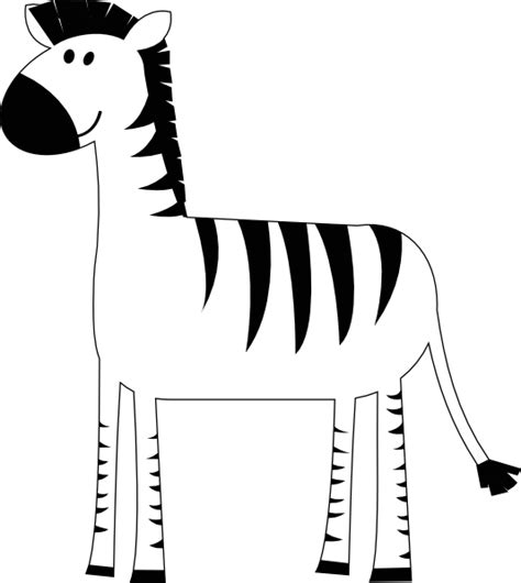 Zebra Outline Picture by Zebra Clip At Clker Vector Clip Royalty Free Domain