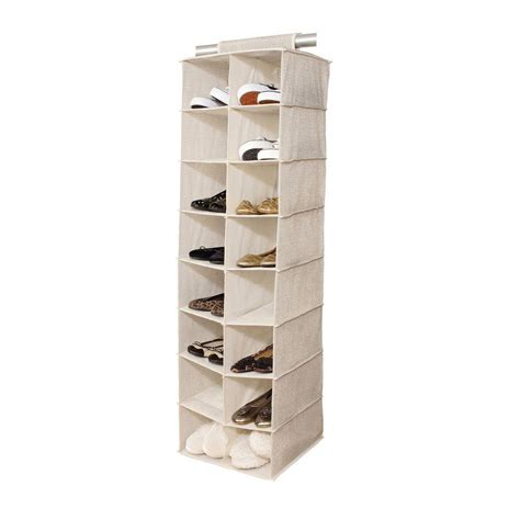 shoe storage organiser honey can do the door 24 pocket polyester shoe