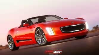 Kia Gt4 Stinger Render Kia Gt4 Stinger Cabrio Concept The Korean Car