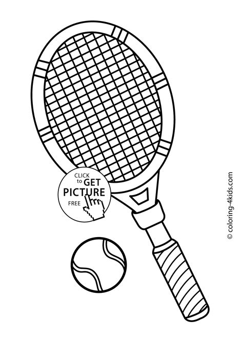 Tennis Coloring Pages tennis sport coloring page for printable free