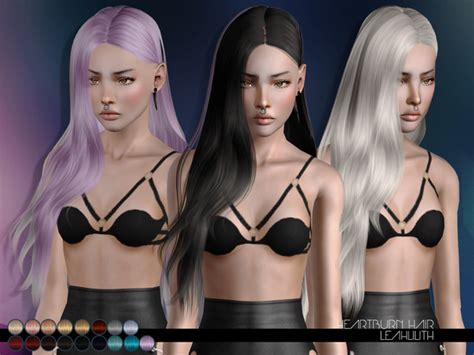 sims 3 hair braid tsr the sims resource over heartburn hair by leahlillith by the sims resource sims