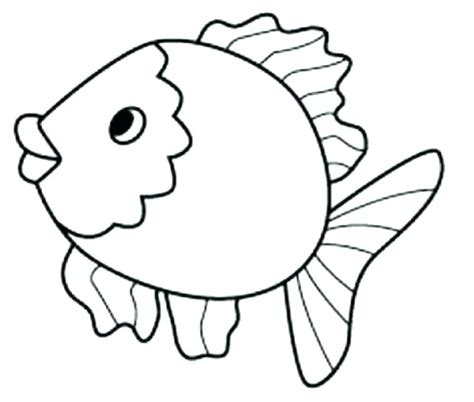 small fish coloring pages printable small fish template pertamini co
