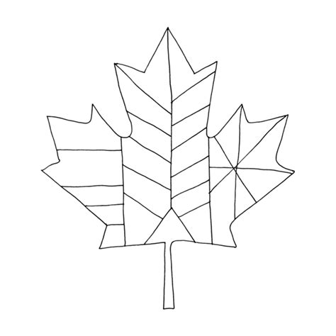coloring page maple leaf canadian maple leaf colouring page by donald lee