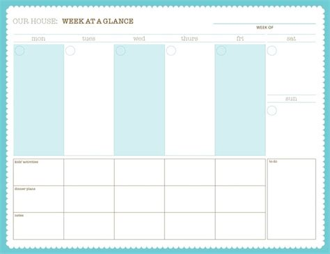 printable at a glance monthly planner 17 best images about calendar weekly on pinterest free