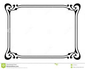art nouveau ornamental decorative frame stock images