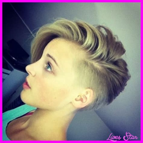 Short Hair On Sides Long On Top Women | short sides long top haircut women livesstar com
