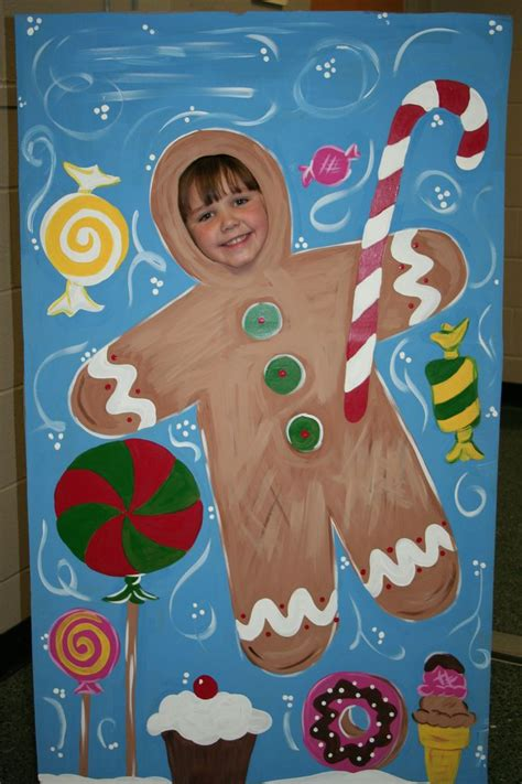 printable christmas cards with face inserts christmas gingerbread man standee insert your face and