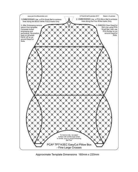 Tp7143ec Easycut Pillow Box Large Crosses Parchment Worldwide Large Pillow Box Template