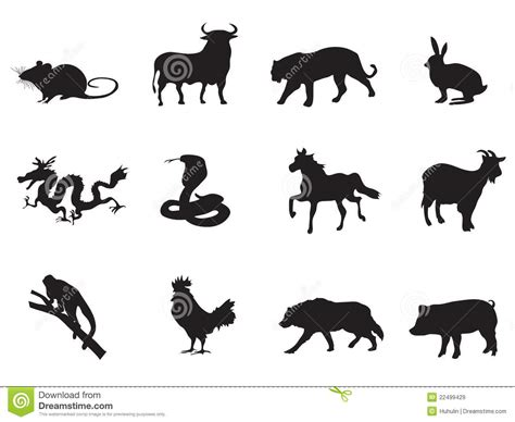 chinese horoscope icons royalty free stock images image