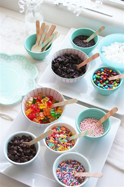 ice cream bar toppings ice cream party ideas petit small