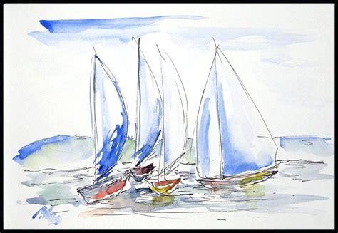 x sailboats sailboat paintings watercolor sailboats watercolor and ink