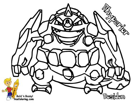 Pokemon Coloring Pages Rhyperior | gritty pokemon printouts mantyke arceus free kids