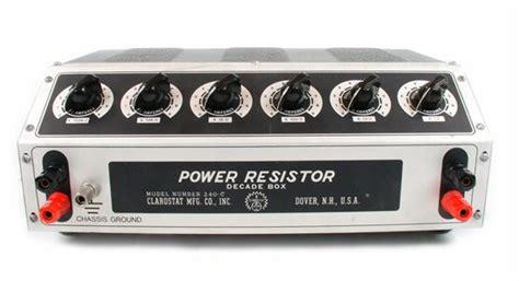 power resistor decade box us instrument services clarostat 240c decade resistor box