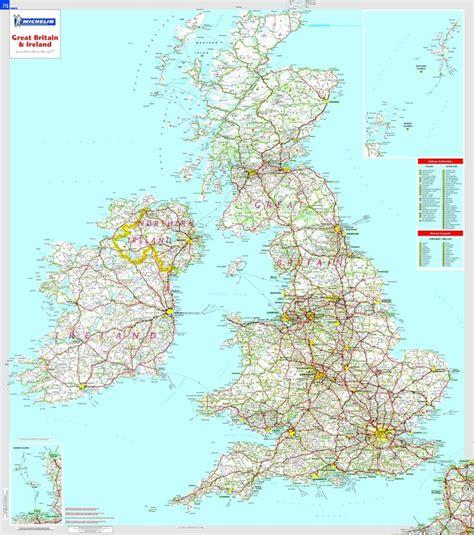 great britain ireland 97 wandkaart great britain and ireland 88 x 100 cm michelin 9782067106529 reisboekwinkel de