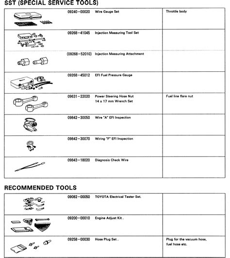 mazda special service tools repair guides multi port fuel injection electric