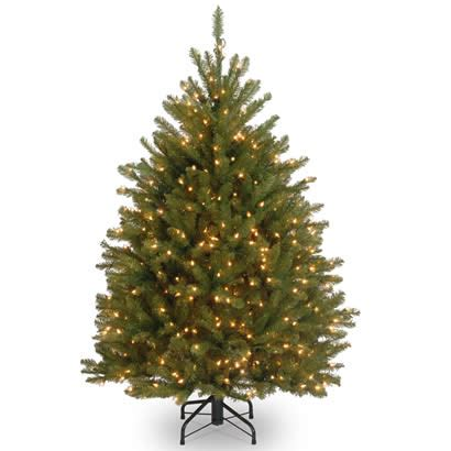 5 ft dunhill fir hinged christmas tree with 500 clear