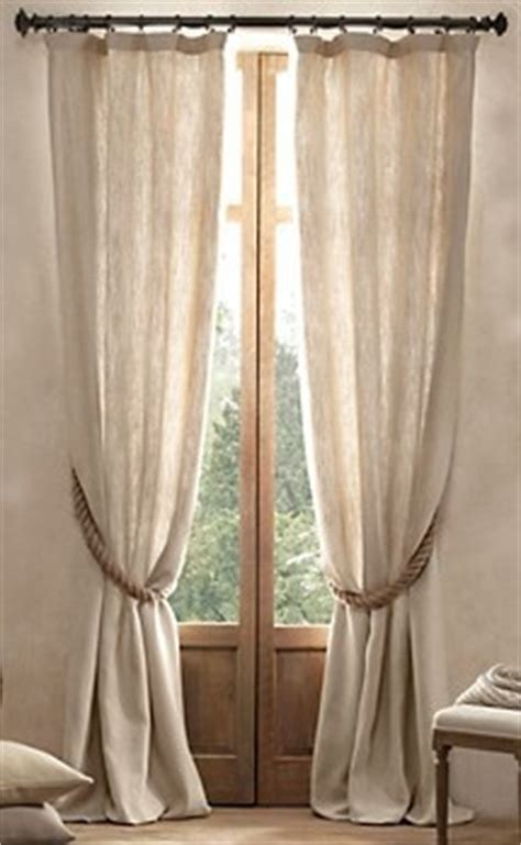 curtain drawbacks linen curtains neutral windows neutrals pinterest
