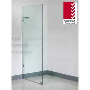 Frosted Glass For Kitchen Cabinets toughen glass frameless shower screen fixed panel