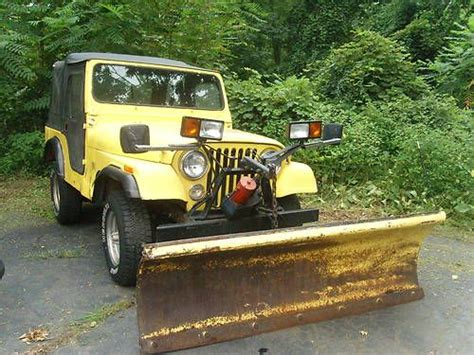 Jeep Plow Buy Used 1980 Jeep Cj 5 With Plow In Coventry