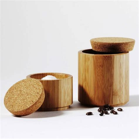 Bamboo Canisters For The Kitchen by Bamboo And Cork Canister Cork And Storage Jars