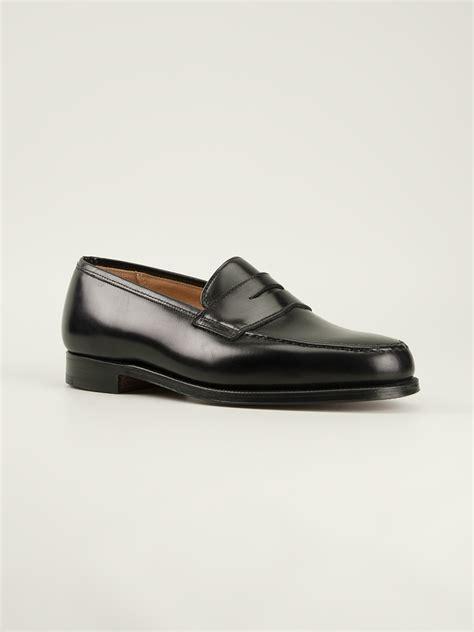 crockett and jones loafers crockett and jones boston loafers in black for