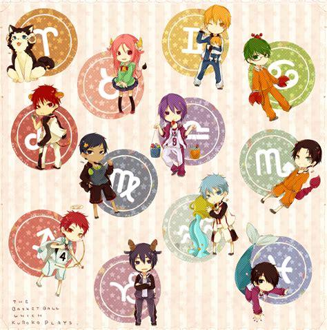 Anime Zodiac Signs by Kuroko No Basuke Zodiac Kuroko No Basuke Fan