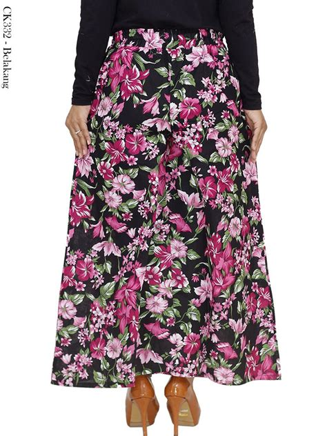 Kulot Motif Bunga Bunga jual celana kulot motif bunga bahan katun linen