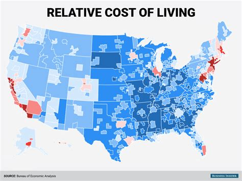 least expensive place to live in usa regional price parities business insider