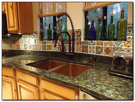 mexican tiles for kitchen backsplash mexican decoration ideas for kitchen home and cabinet