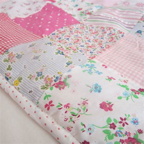baby coverlets patchwork quilt personalised girls and boys by the