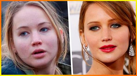 stars before and after makeup msn 20 celebrities without makeup jennifer lawrence