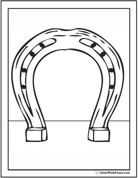 coloring pages of horseshoes horse shoe coloring sheet