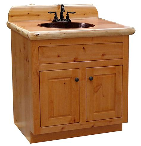 Bathroom Vanity With Center Sink rustic alder bathroom vanity center sink