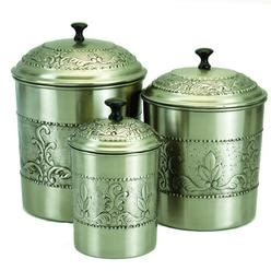 old dutch international 570 rooster canisters set of 4 old dutch antiqued copper kitchen canisters set of