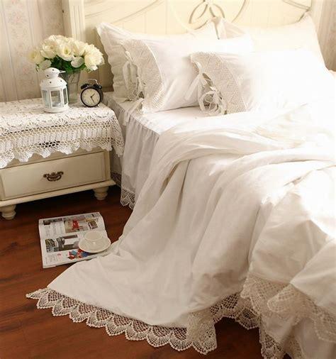 Luxury Lace Bedding Sets Luxury Solid Color Home Textile Lace Princess Bedding Set
