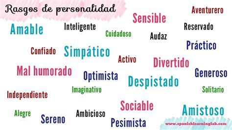 personality traits la personalidad how to describe personality in ser adjectives