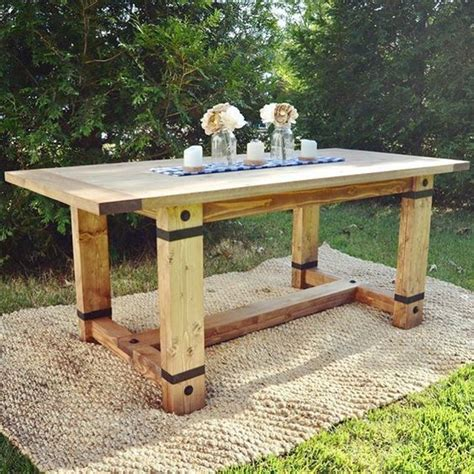 rustic trades farmhouse tables farmhouse rustic industrial farmhouse table modified shanty2chic plans husband and i made 10 15