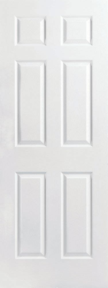 26 Interior Door Home Depot Masonite Primed 6 Panel Textured Interior Door Slab 26 In X 80 In The Home Depot Canada
