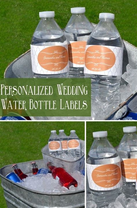 wedding water bottle labels purple hearts 100 qty partyfavorsforall