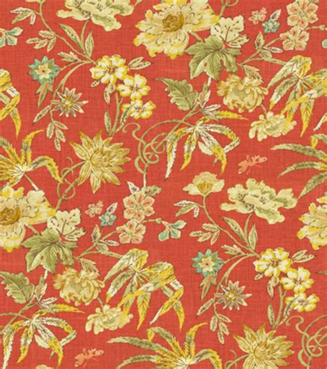 home decorating fabrics home decor print fabric waverly honeymoon berry jo ann