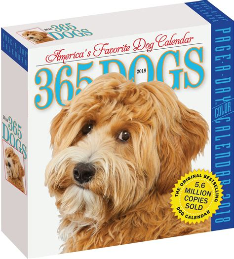 libro 365 dogs page a day calendar 365 dogs page a day 2018 calendar chewy com