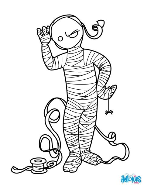 enchanted mummy coloring pages hellokids com